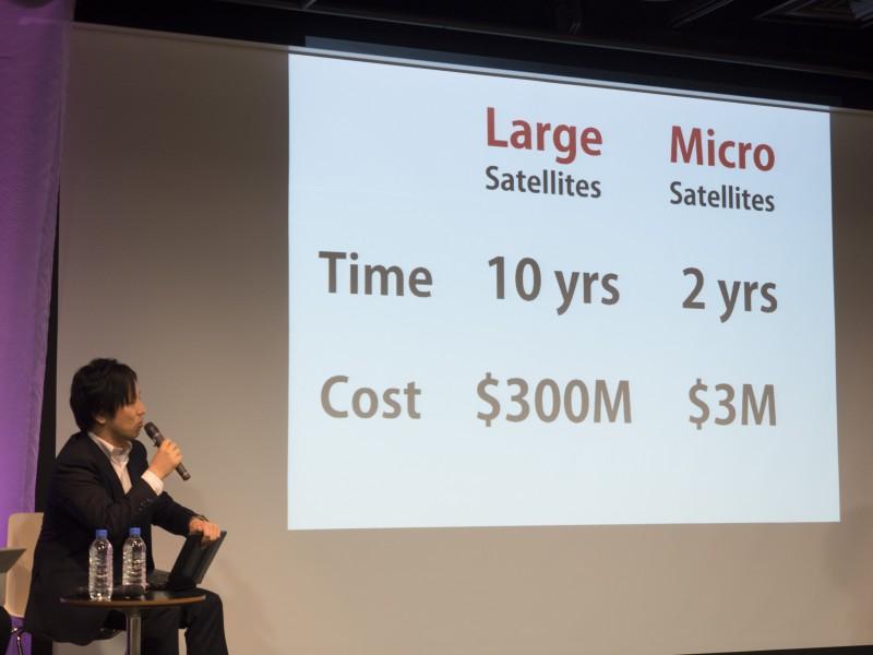 小型衛星は、コストも開発期間も大幅に削減できる
