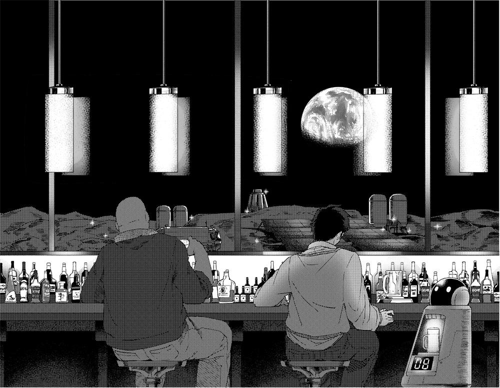 【宇宙兄弟×ユーザブルIoT コラム #005】場の雰囲気を壊さないでお酒をお代わり、月面のバーはこんな感じになる!