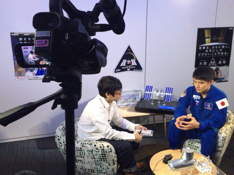 【放送まであと3時間!!】小山宙哉が大西宇宙飛行士に取材した様子を『ニュースウォッチ9』で放送!