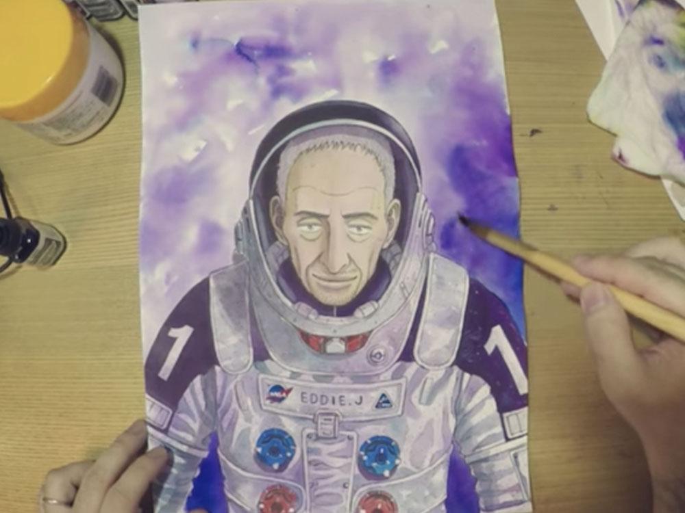 宇宙兄弟29巻 表紙の作画風景ムービーが公開☆