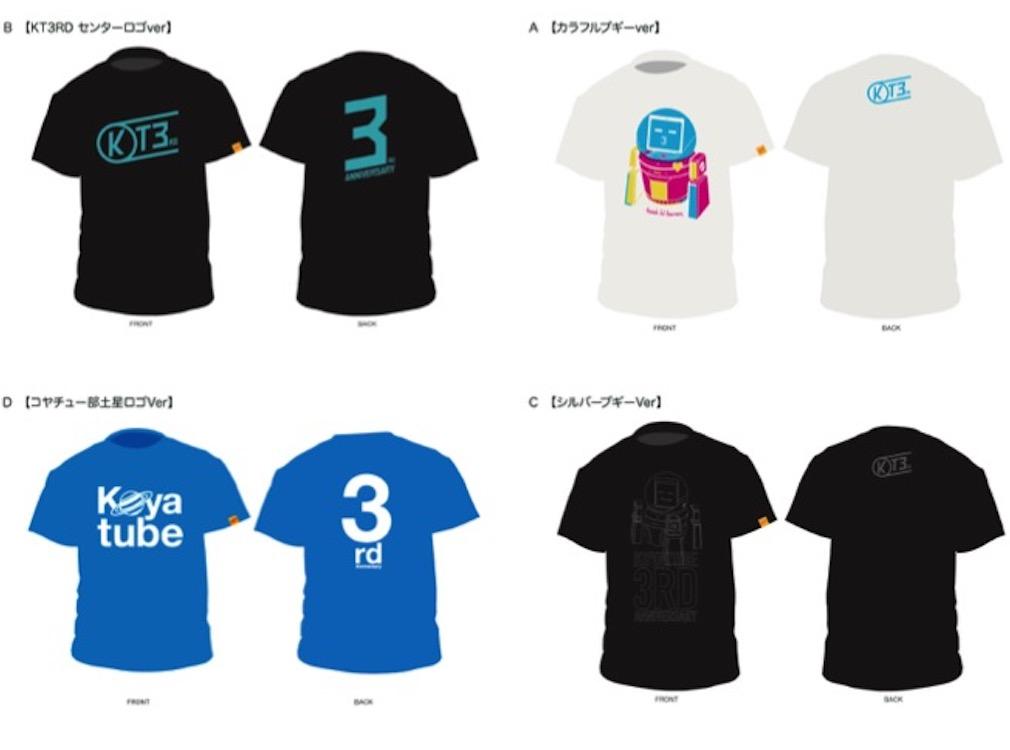 【投票経過速報!】あなたが選ぶコヤチュー部3周年記念Tシャツデザイン!!
