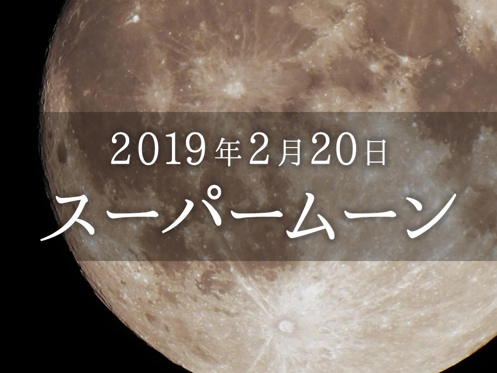 """【2019年2月20日】""""スーパームーン""""を観てみよう☆"""